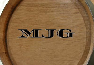 Personalized Monogrammed Mini Oak Barrel