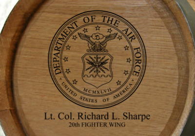 Personalized Mini Oak Barrel - Air Force