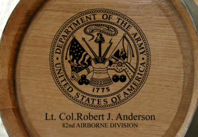 Personalized Mini Oak Barrel - Army