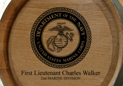 Personalized Mini Oak Barrel - Marines