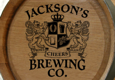 Personalized Brewing Co Small Oak Barrel - Lions Crest
