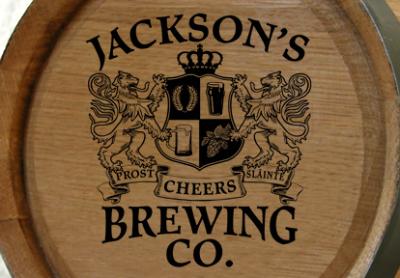 Personalized Brewing Co Small Oak Barrel - Lions Crest