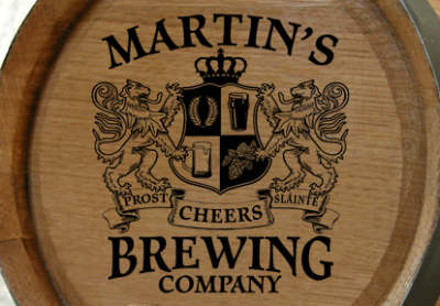 Personalized Brewing Company Small Oak Barrel - Lions Crest