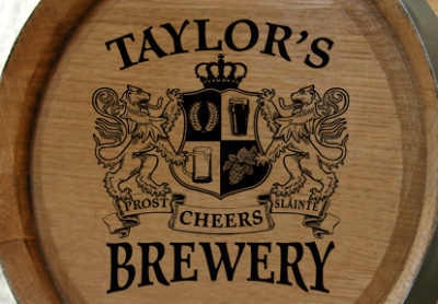 Personalized Brewery Company Small Oak Barrel - Lions Crest
