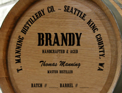 Personalized Mini Oak Barrel - Brandy Distillery Warehouse