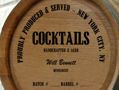 Personalized Mini Oak Barrel - Cocktails Distillery Warehouse