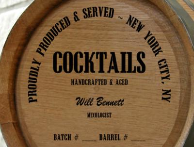 Personalized Mini Oak Barrel - Cocktails Distillery Warehouse