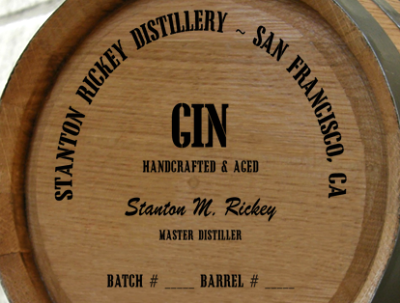 Personalized Mini Oak Barrel - Gin Distillery Warehouse