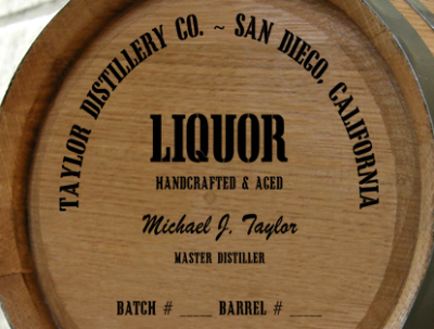 Personalized Mini Oak Barrel - Liquor Distillery Warehouse