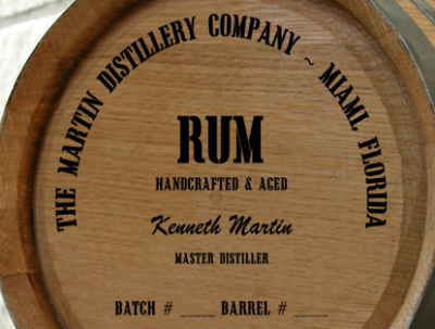 Personalized Mini Oak Barrel - Rum Distillery Warehouse