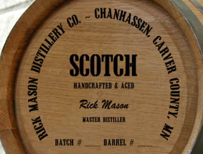 Personalized Mini Oak Barrel - Scotch Distillery Warehouse