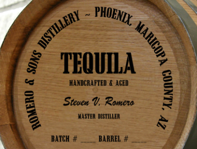 Personalized Mini Oak Barrel - Tequila Distillery Warehouse