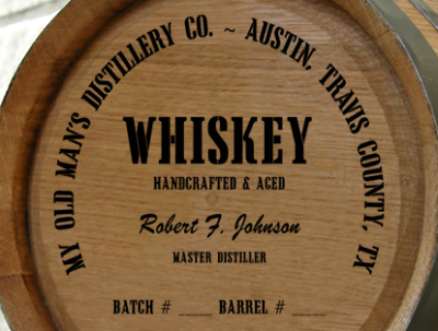 Personalized Mini Oak Barrel - Whiskey Distillery Warehouse