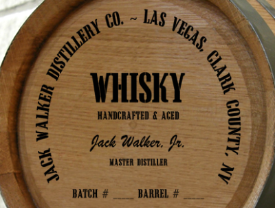 Personalized Mini Oak Barrel - Whisky Distillery Warehouse