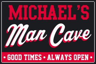 Personalized Man Cave Metal Sign - Good Times, Always Open