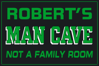 Personalized Man Cave Metal Sign - Man Cave, Not A Family Room