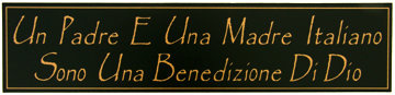 Un Padre E Una Madre Italiano Sono Una Benedizione Di Dio Italian Wall Sign