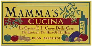Mammas Cucina Italian Wall Sign - Buon Appetitio