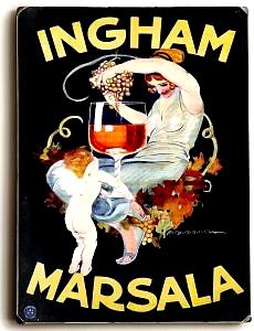 Ingham Marsala Wine Vintage Italian Wall Sign