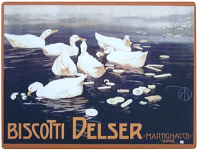 Biscotti Delser Vintage Italian Wall Sign