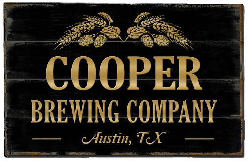 Personalized Brewing Company Planked Wood Sign - LARGE