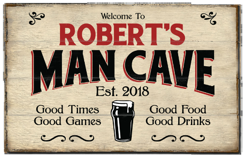 Personalized Man Cave Planked Wood Sign - Beer - LARGE