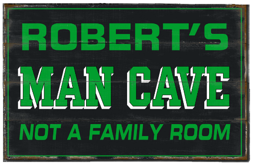 Personalized Man Cave Planked Wood Sign - Man Cave, Not A Family Room