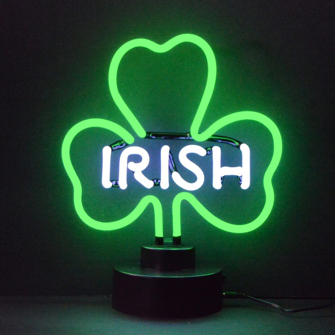 Irish Shamrock Neon Tabletop Sign