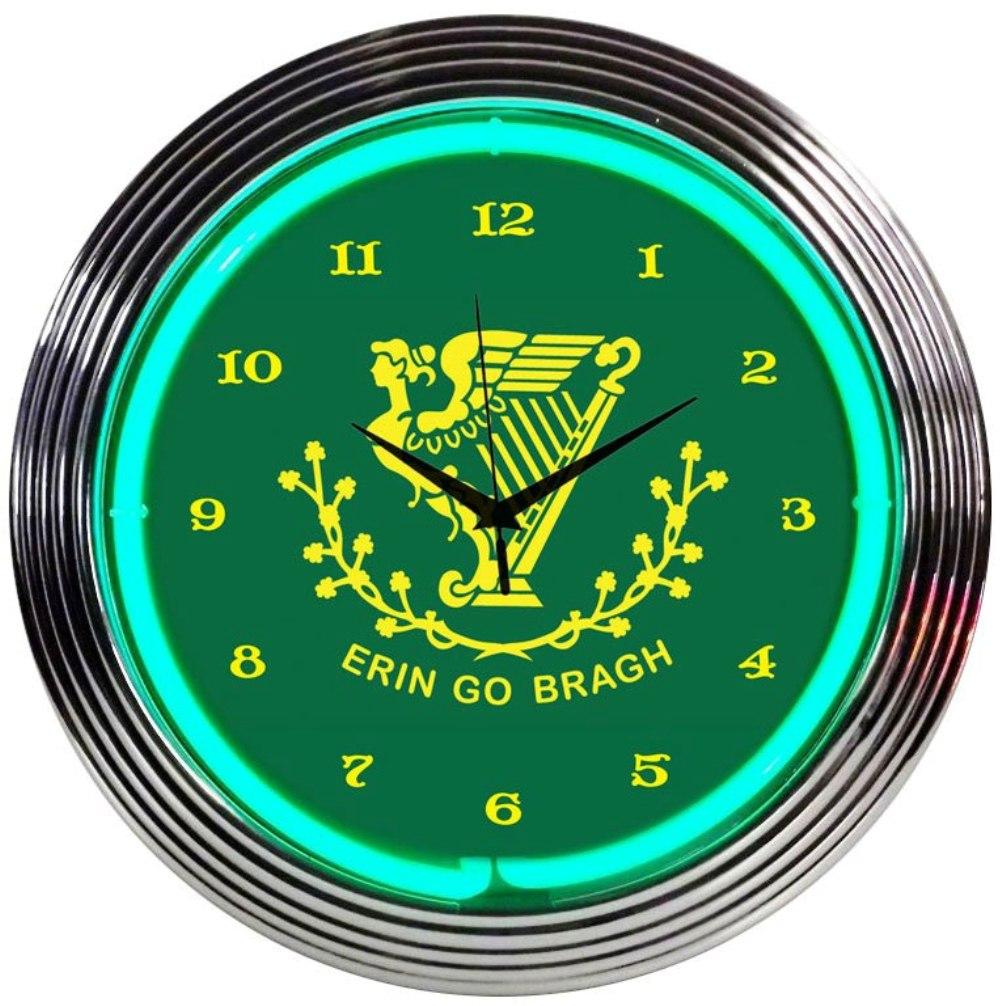 Irish Ireland Phrase Neon Clock