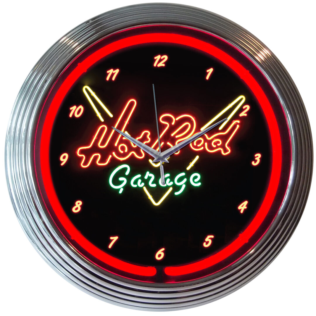 Hot Rod Neon Clock