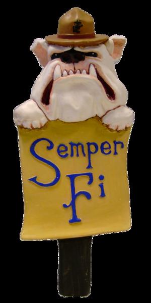 Marine Bulldog Beer Tap Handle