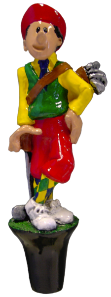 Golfer with Putter Beer Tap Handle