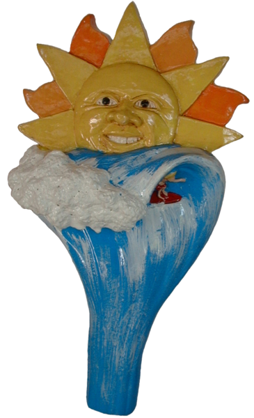 Sun and Surf Beer Tap Handle