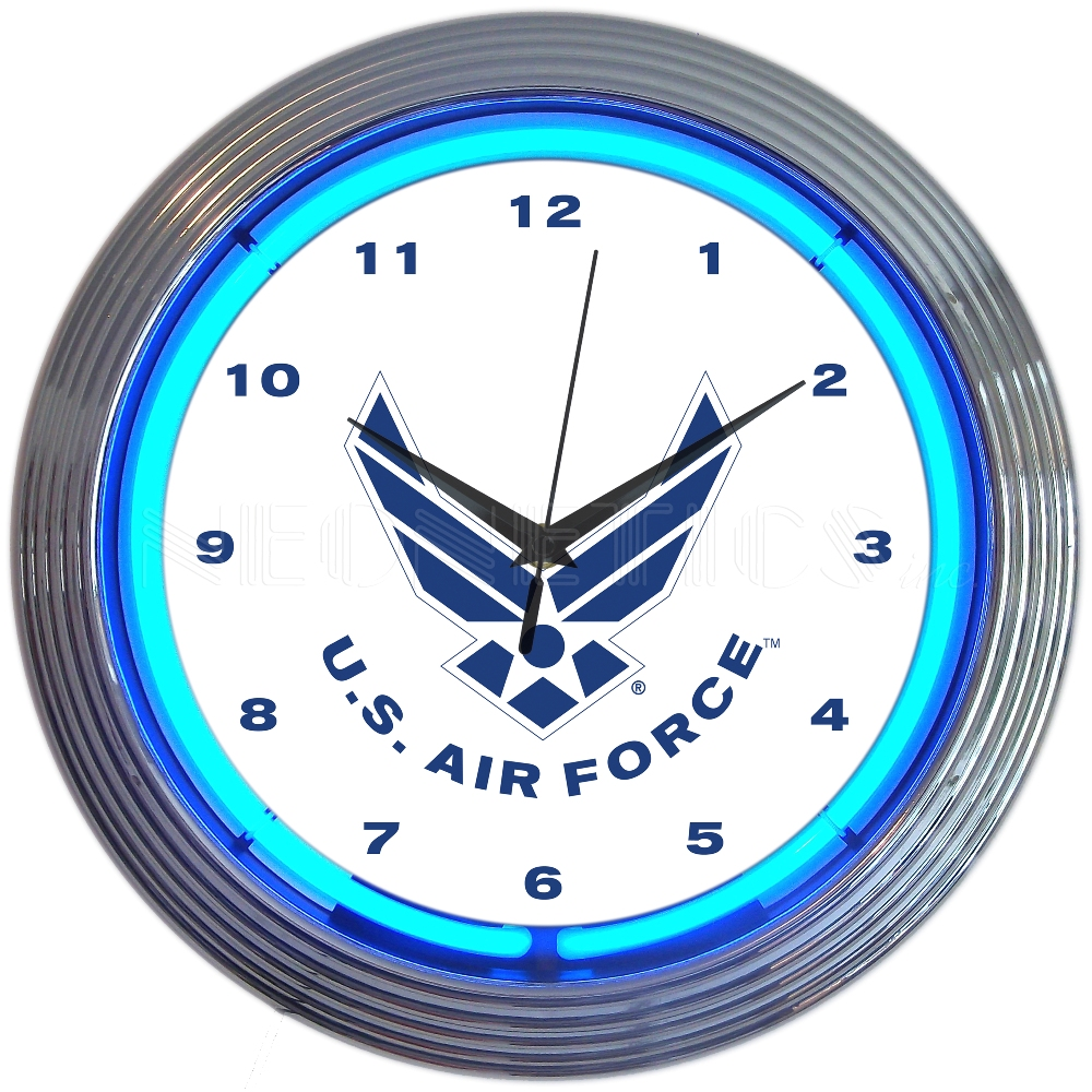 Air Force Neon Clock
