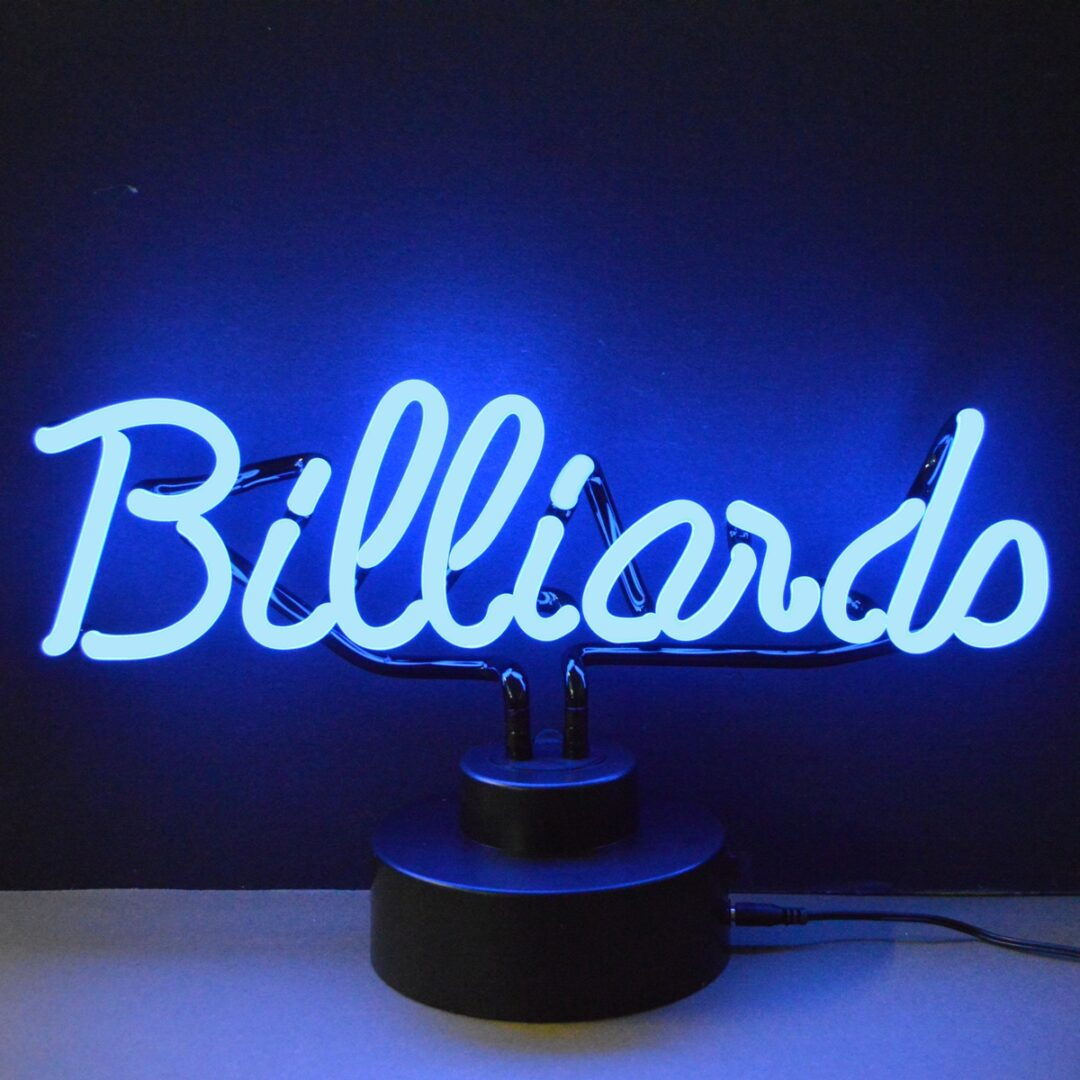 Billiards Neon Tabletop Sign