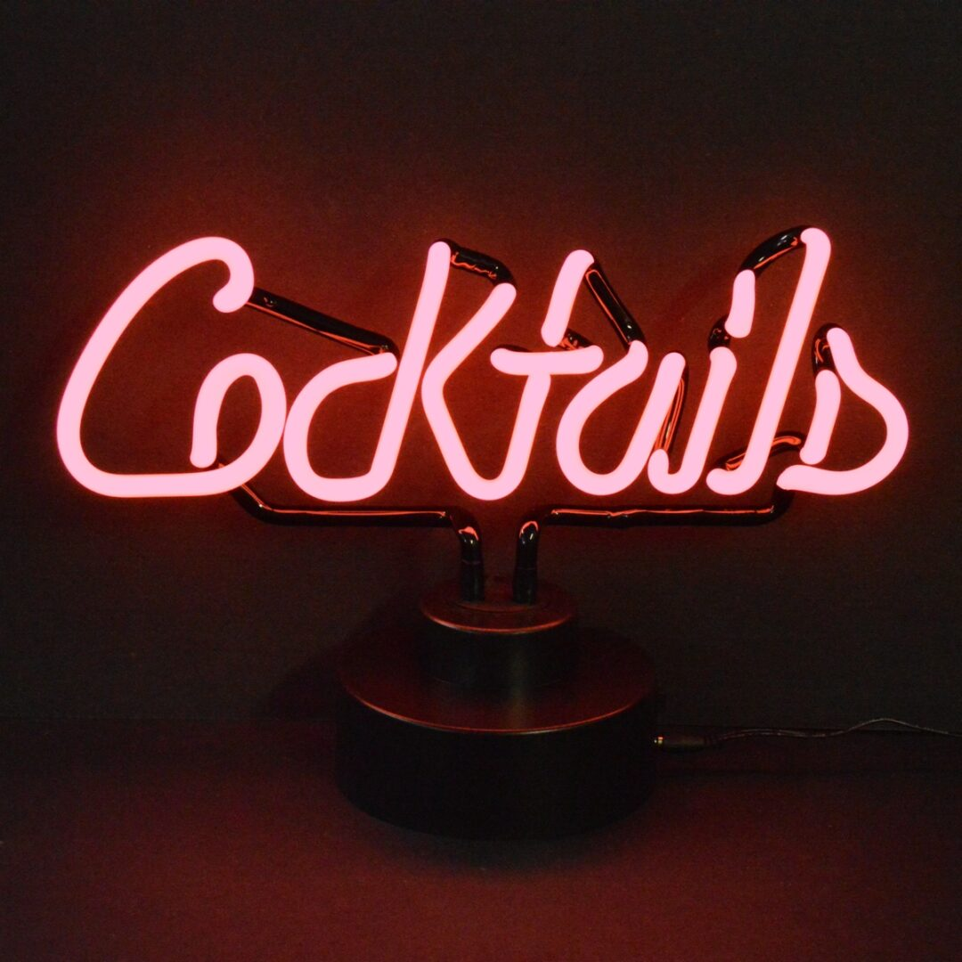 Cocktails Neon Tabletop Sign