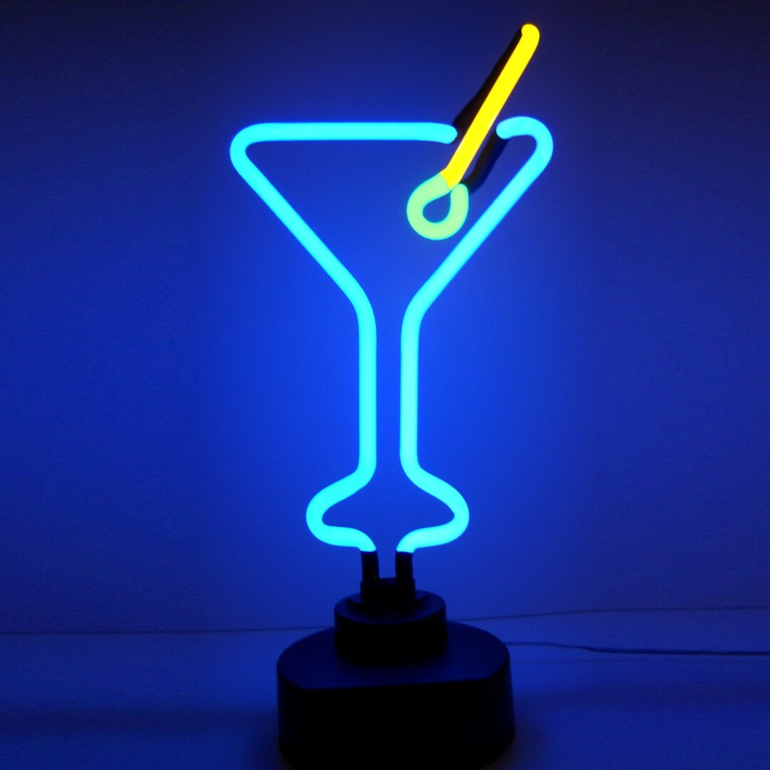 Martini Neon Tabletop Sign