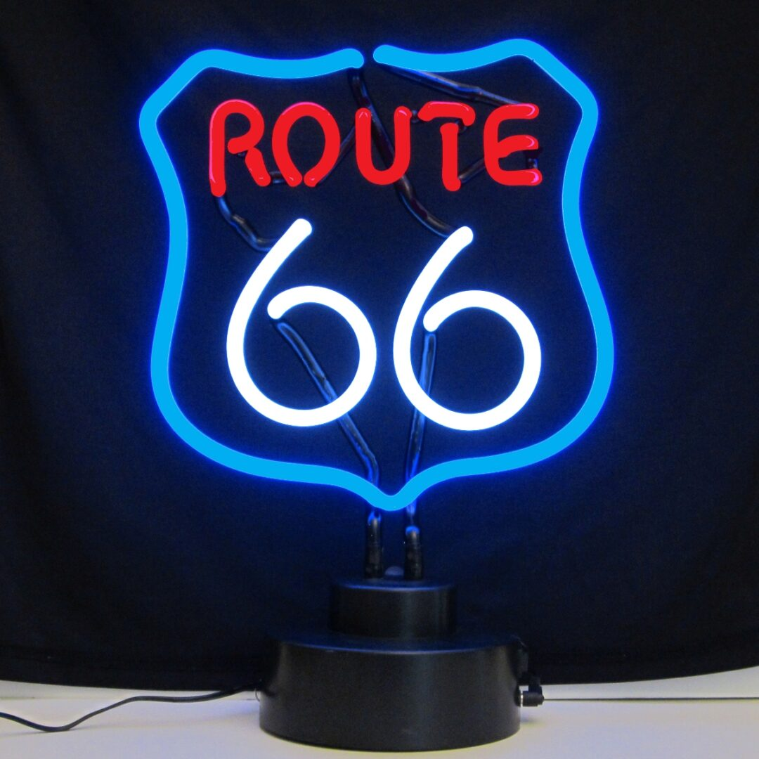 Route 66 Neon Tabletop Sign
