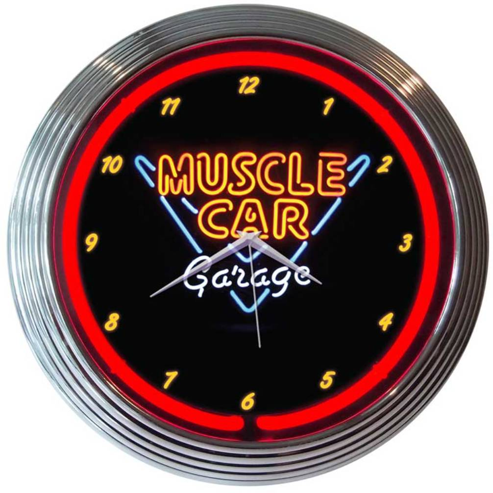 Muscle Car Neon Clock