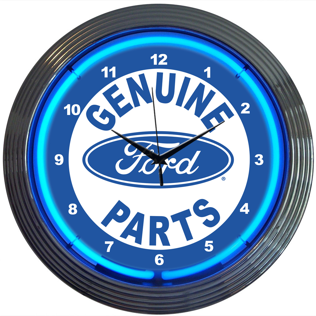 Ford Genuine Parts Neon Clock