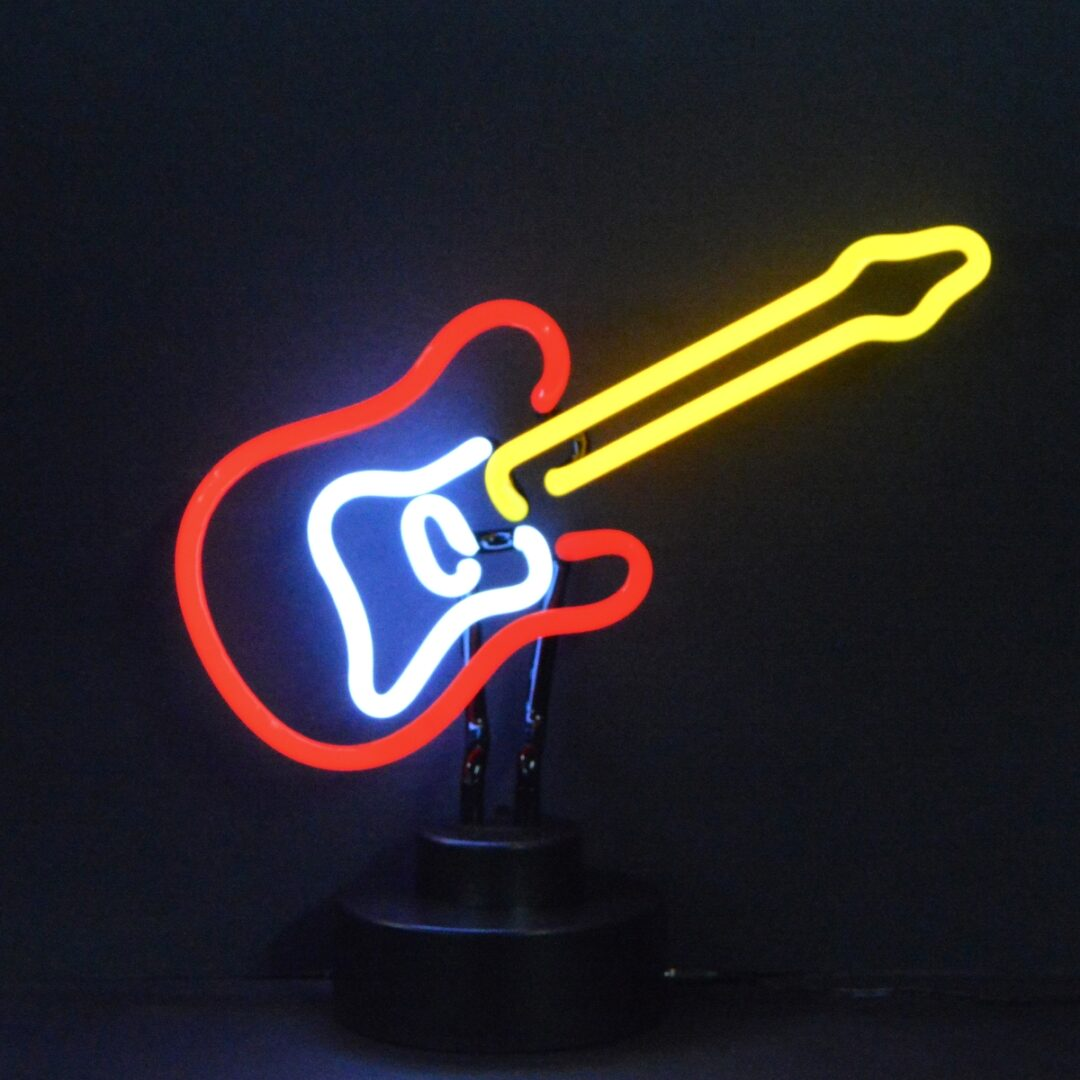 Electric Guitar Neon Tabletop Sign