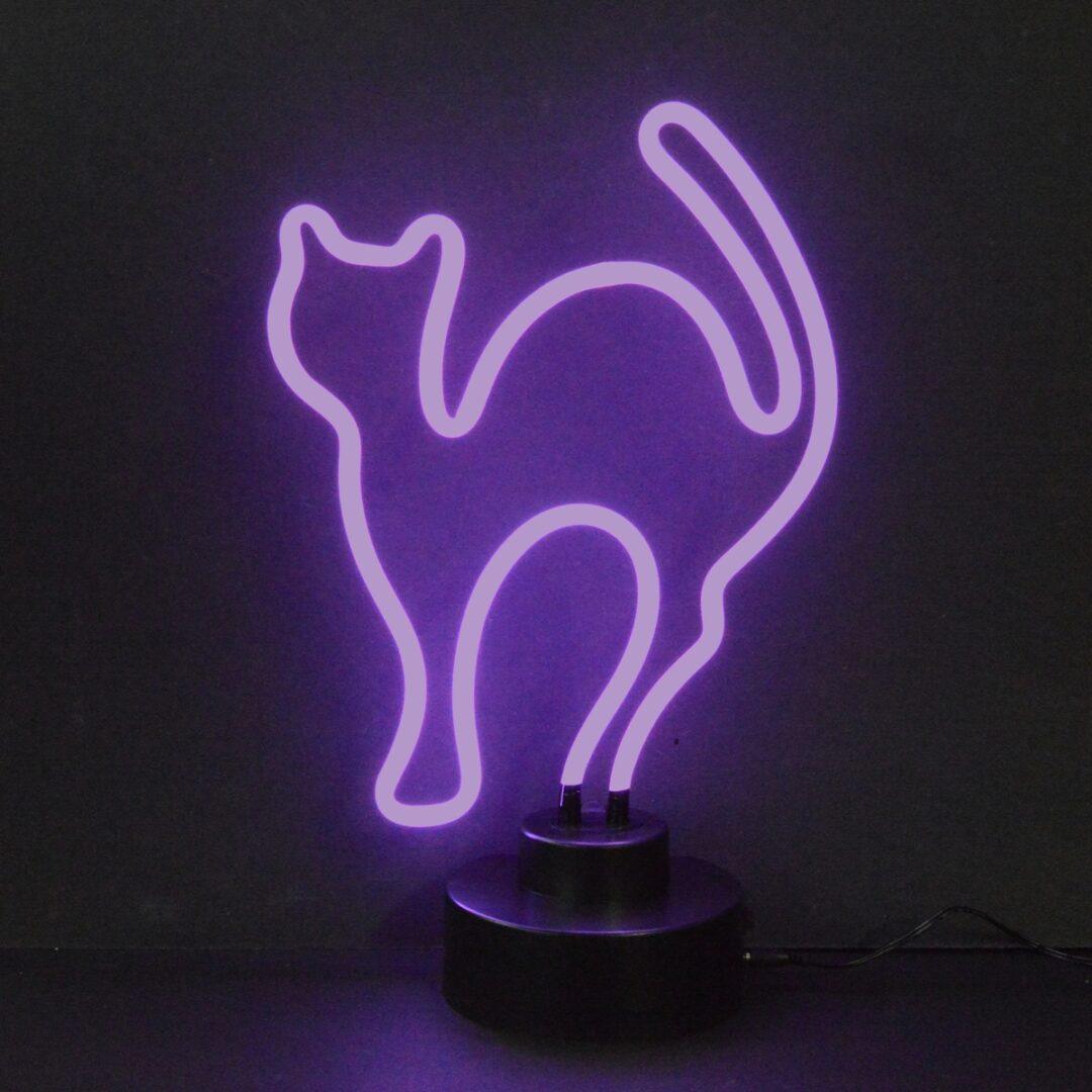 Cat Neon Tabletop Sign