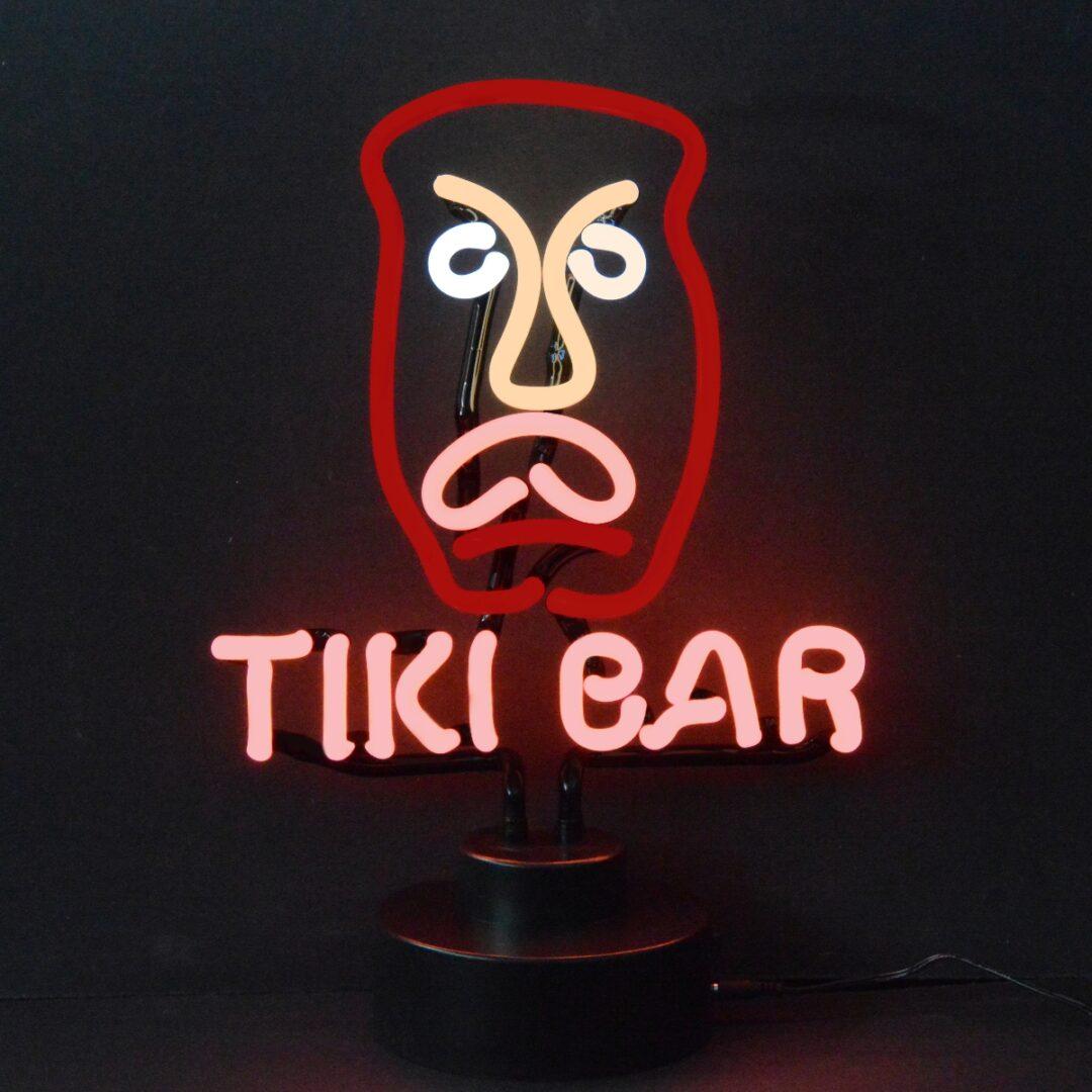 Tiki Bar Neon Tabletop Sign