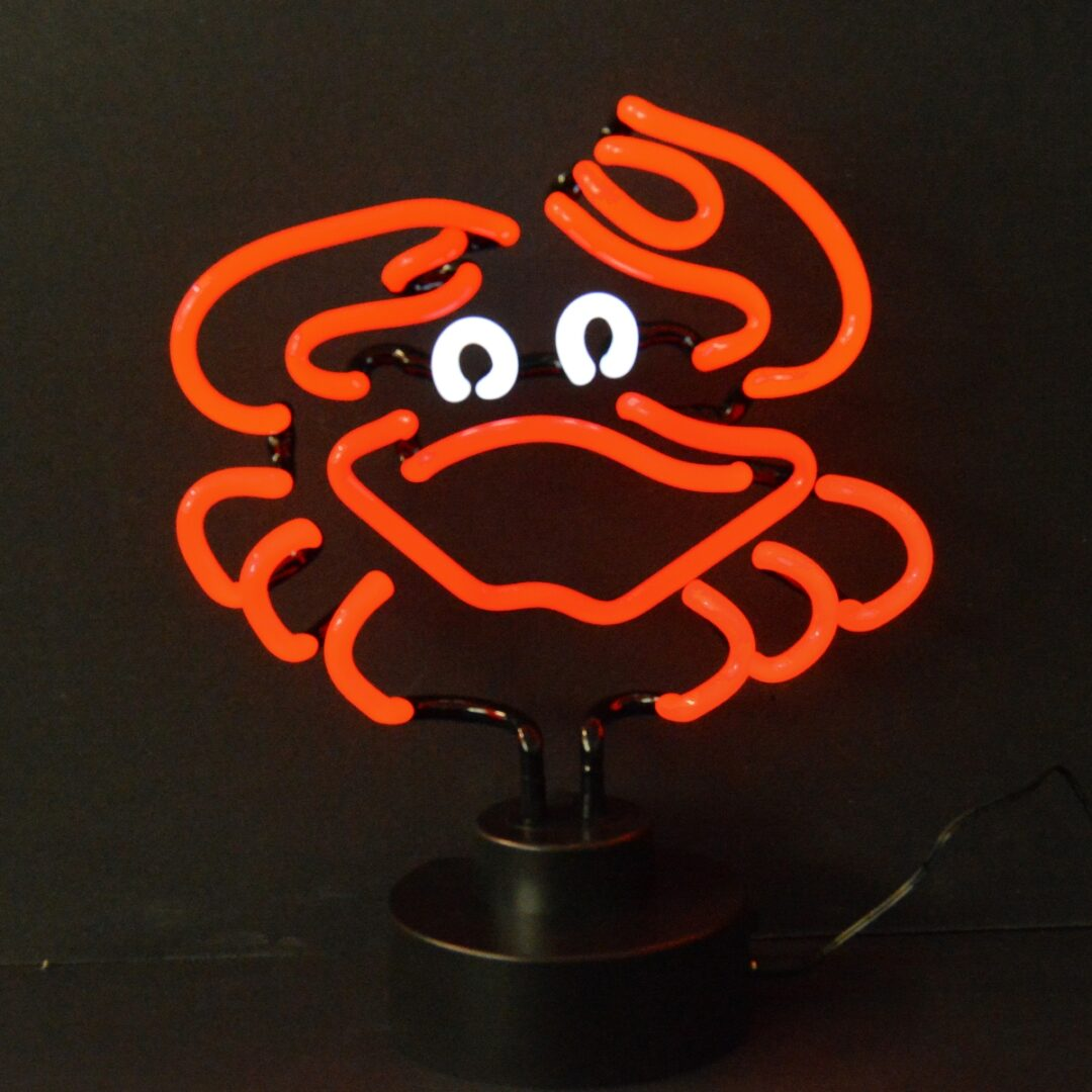 Crab Neon Tabletop Sign