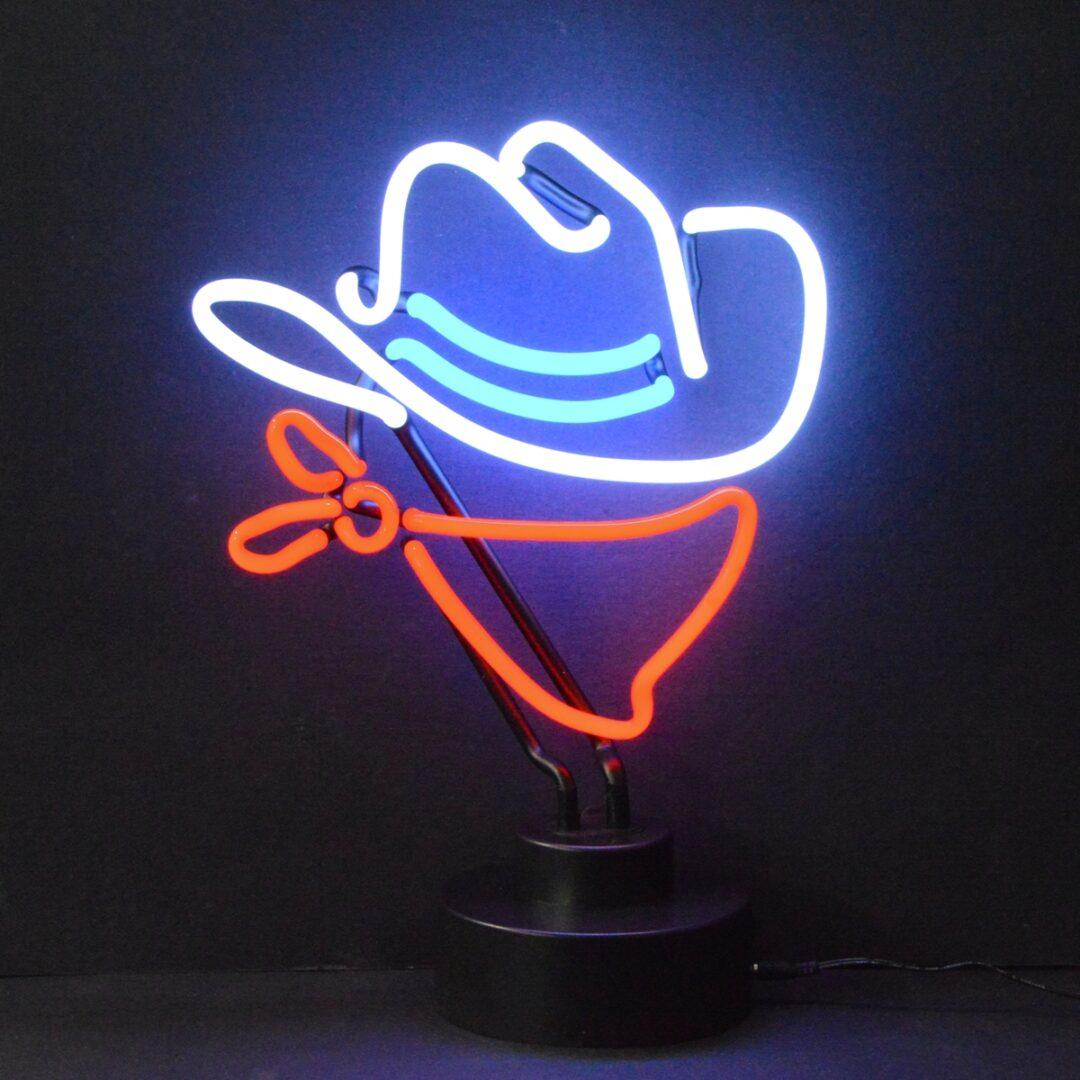 Cowboy Neon Tabletop Sign