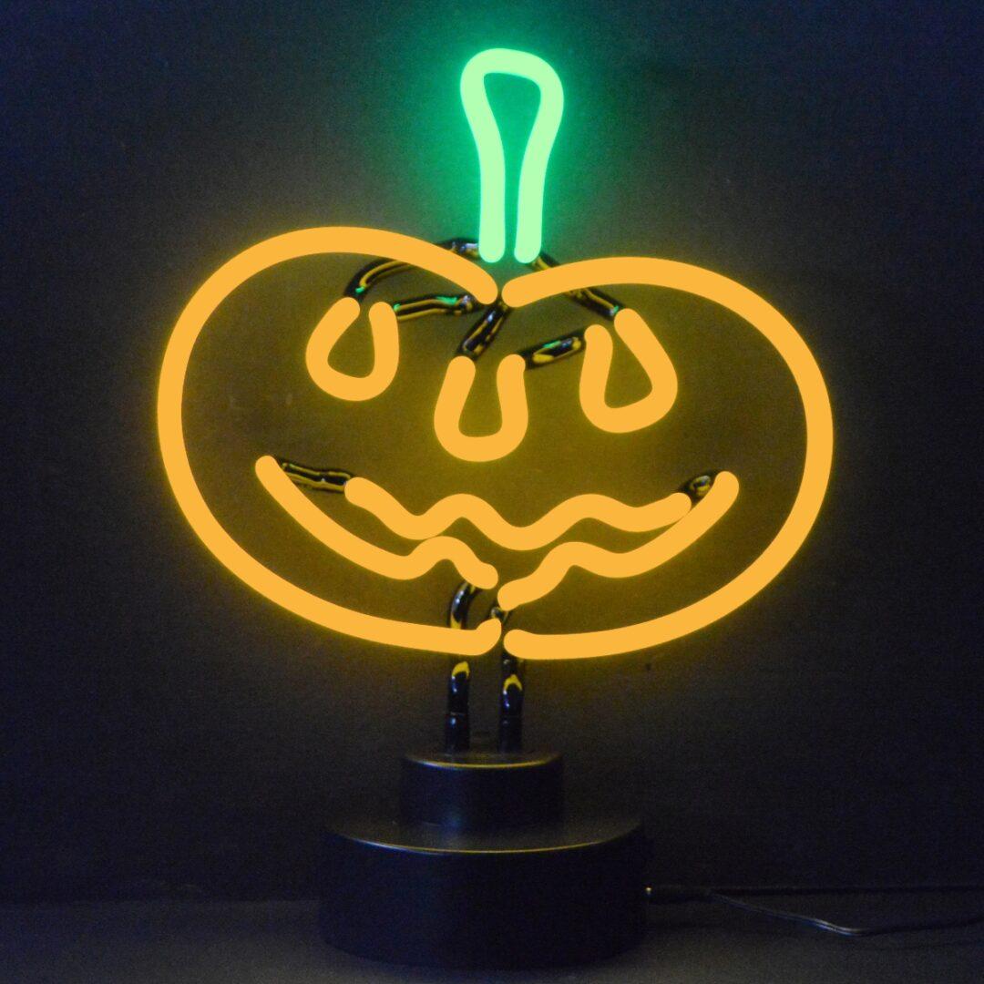 Jack O Lantern Pumpkin Neon Tabletop Sign
