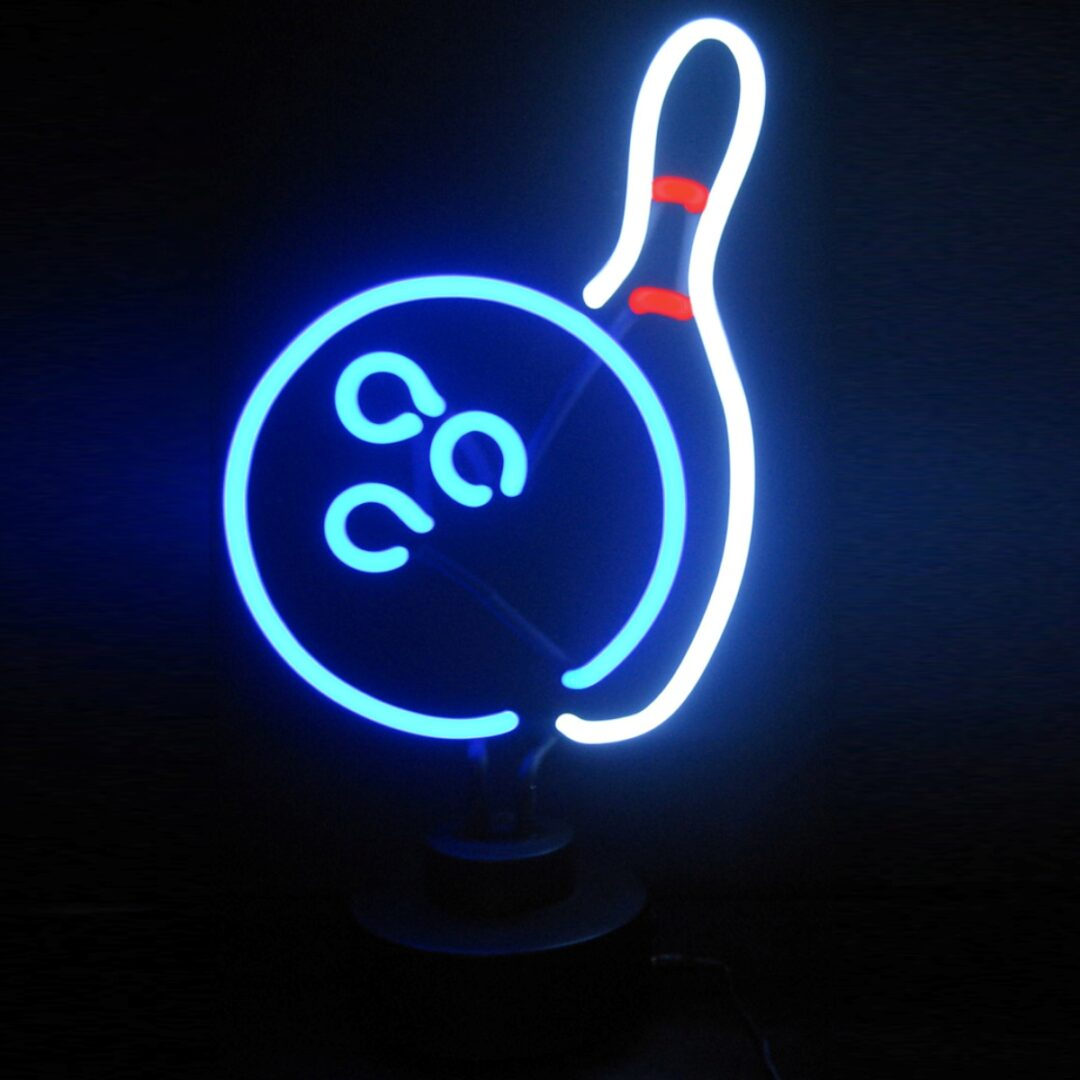 Bowling Neon Tabletop Sign