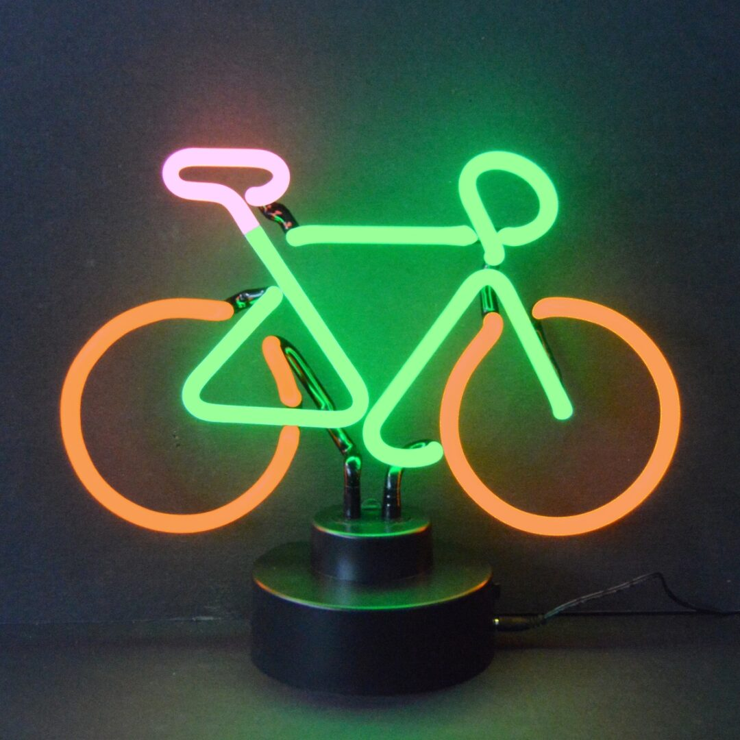 Bicycle Neon Tabletop Sign
