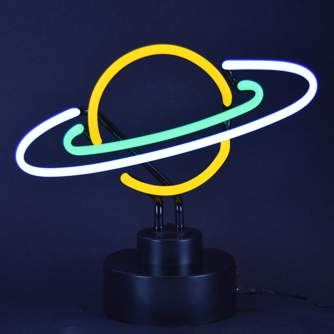 Saturn Neon Tabletop Sign