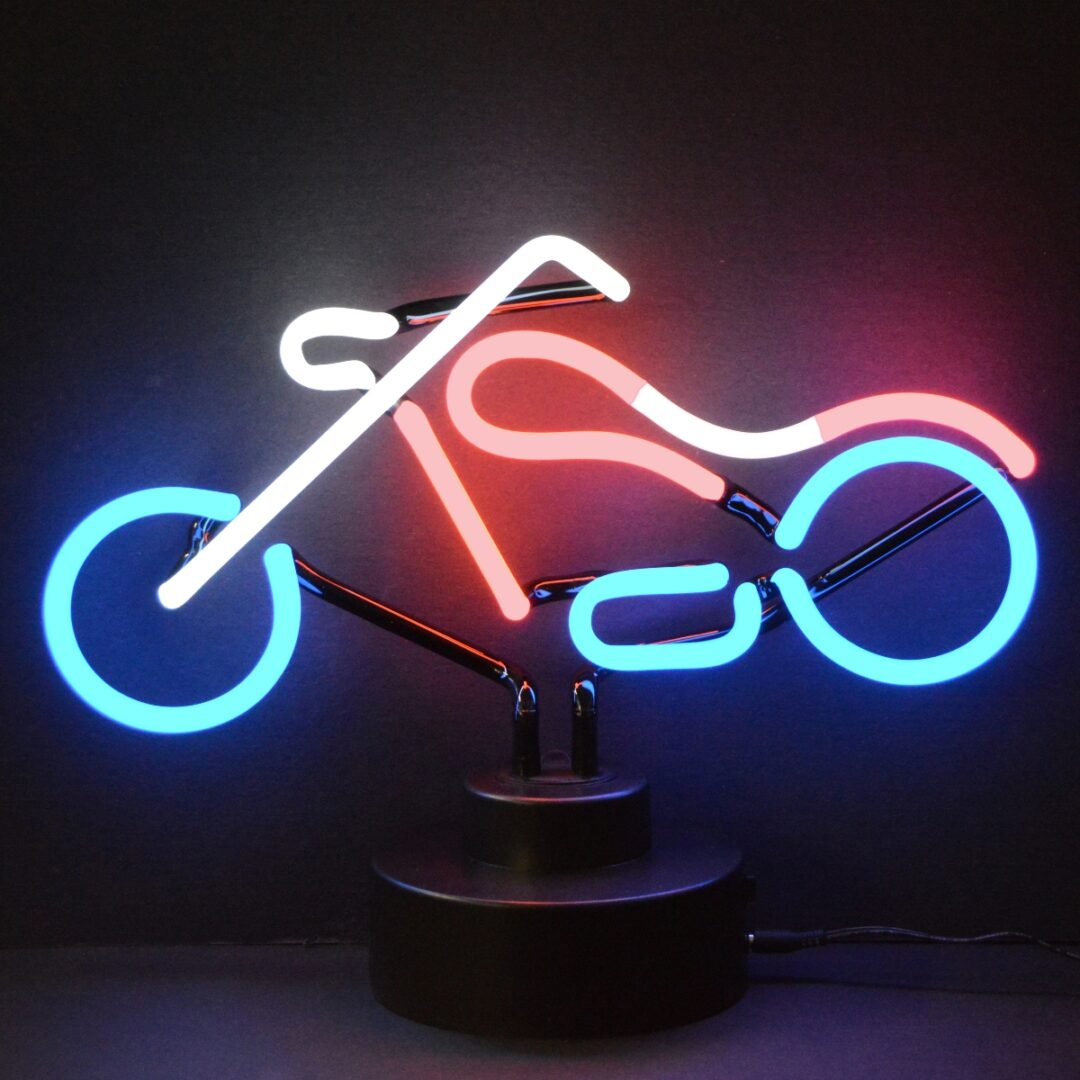 Chopper Neon Tabletop Sign